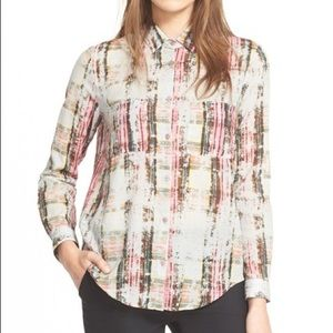 The Kooples Check Print Cotton Button Down Shirt
